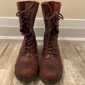 ALDO Leather combat boots
